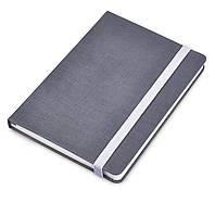 Блокнот А5, сіра обкладинка Canvas з кремовими сторінками. Під тиснення логотипів замовника, фото 1