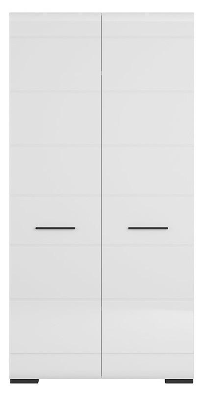 Шкаф SZF2D/20/10 FEVER BRW белый/белый глянец