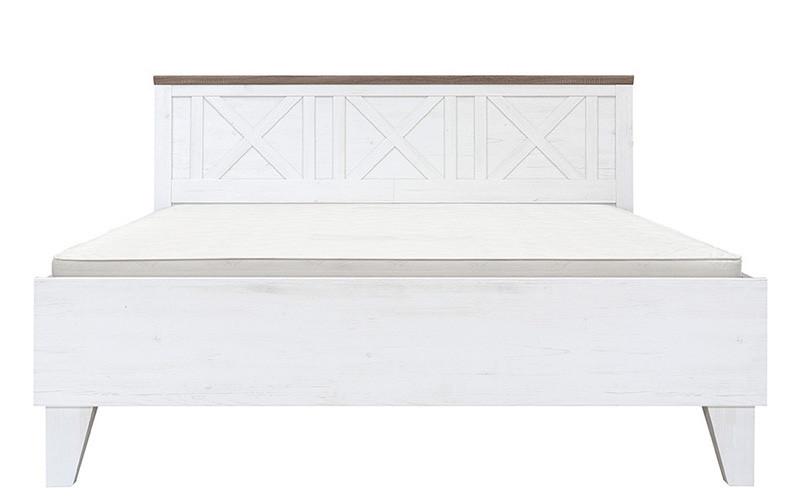 Кровать LOZ/160 STOCKHOLM BRW сосна андерсен белая/дуб сонома темный