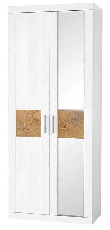 Шкаф REG1D1L/20/8 BOCA BRW белый/белый глянец/дуб