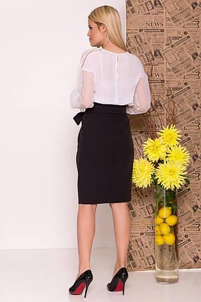Нарядная блуза с приспущенными плечами (XS, S, M, L) белая, фото 2