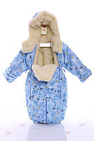 Детский комбинезон трансформер зимний голубой baby, фото 1