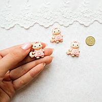 """Декор миниатюра """"Kitty"""" - 2,5*2,5 см"""