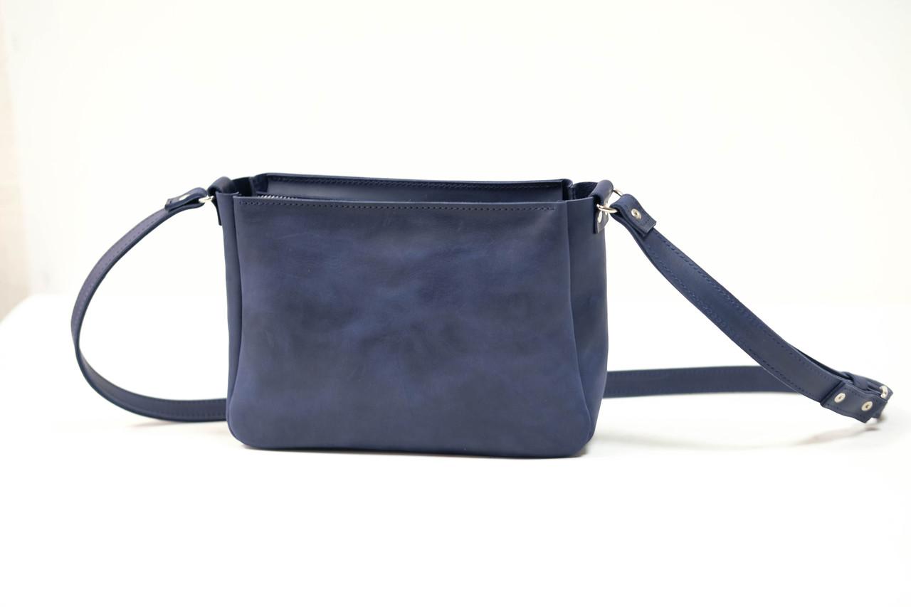 Сумка женская. Кожаная сумочка Надежда Винтажная кожа цвет Синий