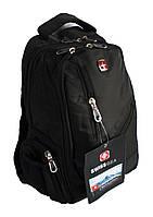 Школьный рюкзак swissgear А815 USB & AUX, черный
