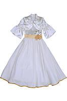 Платье нарядное детское с болеро летнее М -868 рост 110, фото 1