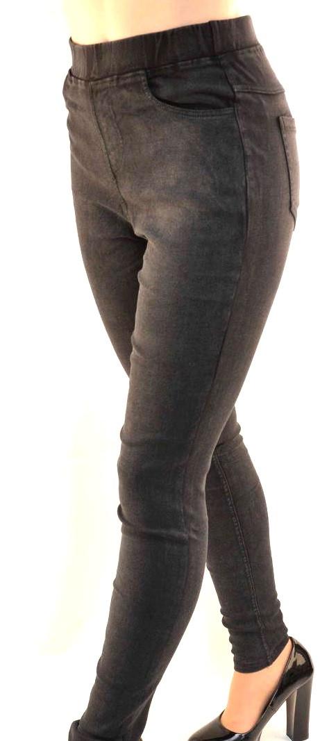 Джинсы - джеггинсы черные размер  4XL, 5XL