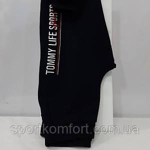 Жіночі спортивні прогулянкові штанці TOMMY LIFE, Туреччина, чорні, внизу на манжеті, розмір 46.