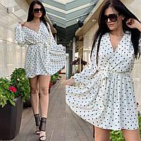 """Платье женское на запах размер oversize 42-46 (2цв) """"MILIRUD"""" купить недорого от прямого поставщика"""