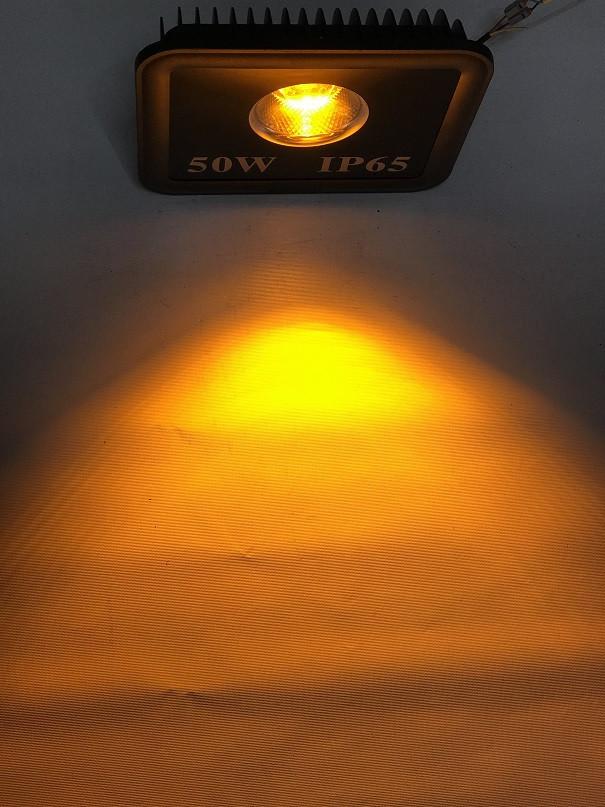 Светодиодный линзованый прожектор SL-50Lens 50W желтый IP65 Код.59054