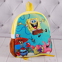 Детский рюкзак с Губкой Бобом, Губка Боб, Sponge Bob Square Pants, Спанч Боб, плюшевый рюкзак  Спанчбоб