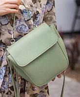 Модная женская сумка трансформер Фисташка