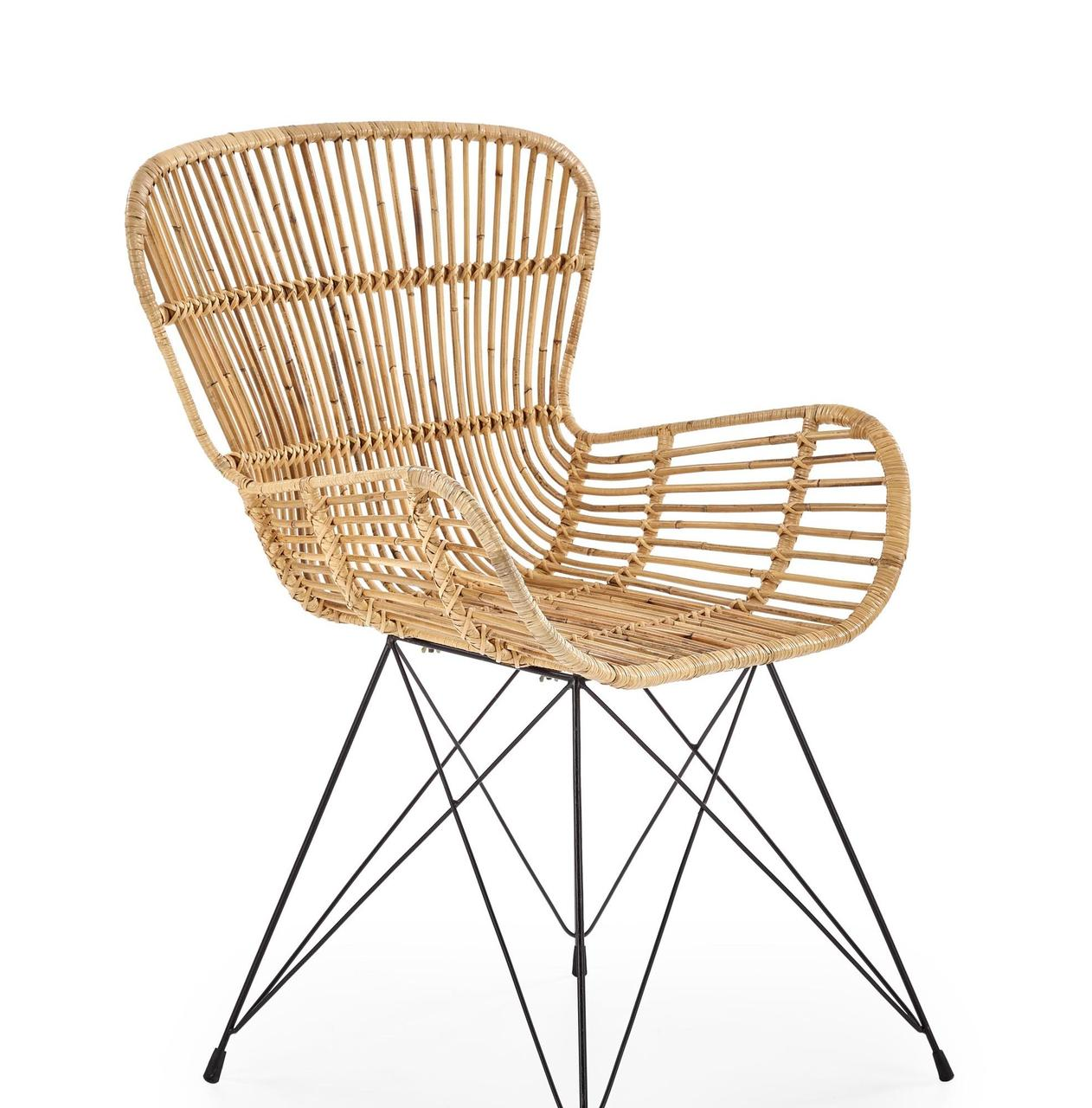 Кресло металлическое K-335 Halmar ротанг