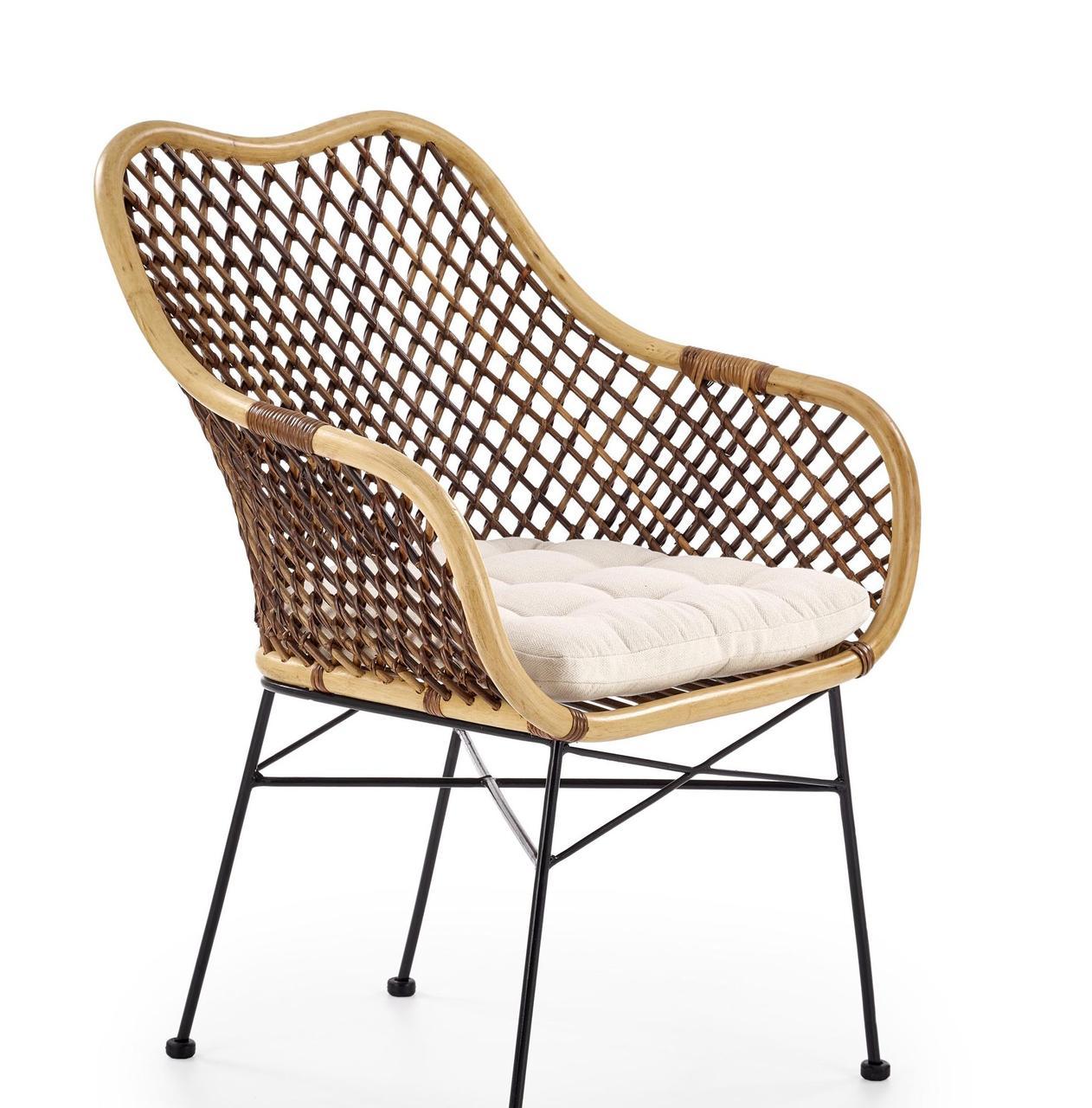 Кресло металлическое K-336 Halmar ротанг