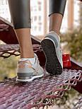Женские кроссовки New Balance 574 замшевые серые с золотом. Живое фото (Реплика ААА+), фото 8