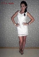 """Белое нарядное платье """" Грация """", фото 1"""