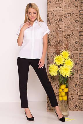 Женская блуза-рубашка из полупрозрачного софта (XS, S, M, L) белая, фото 2
