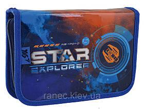"""Пенал твердый 1Вересня одинарный с двумя клапанами HP-04 """"Star Explorer"""""""