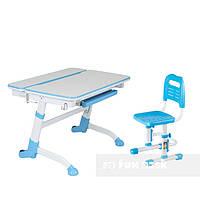 Растущая парта-трансформер FunDesk Volare Blue+ Детский стул SST3L Blue