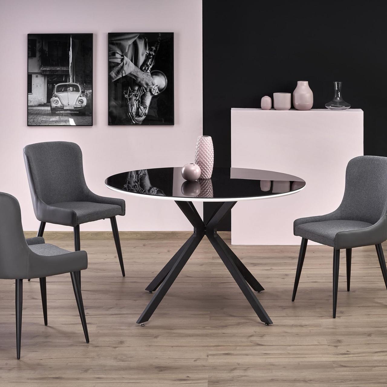 Стол обеденный стеклянный AVELAR Halmar черный