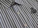 Детская сорочка для мальчика в серо-черную полоску р. 140-164 см (InCity,Турция), фото 3