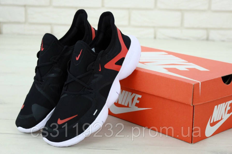 Мужские кроссовки Nike Free Run 5.0 (черные)