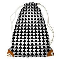 Рюкзак-мешок Треугольники черно-белые