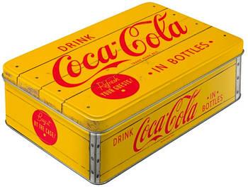 Коробка для хранения Nostalgic-Art Coca-Cola - Logo Yellow (30725)