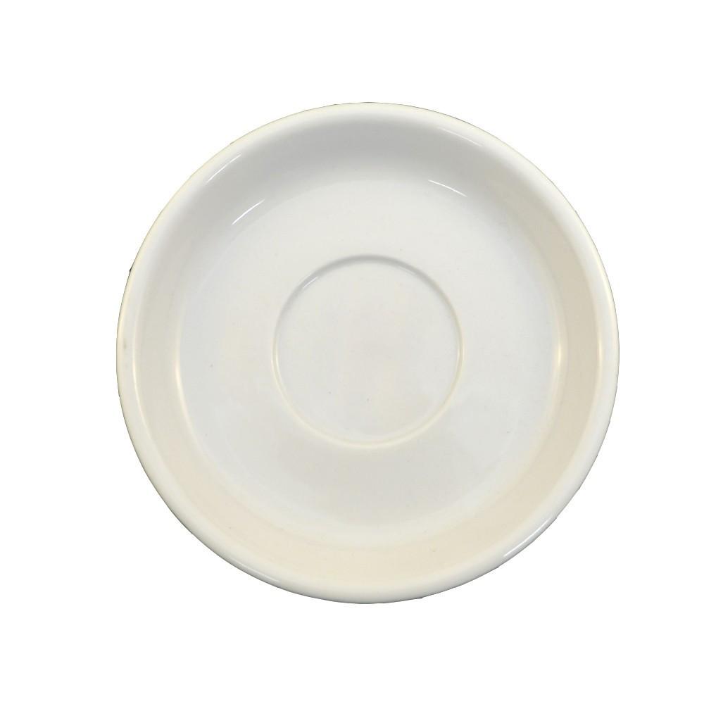 Блюдце белое фарфоровое Farn 135мм для чашки эспрессо