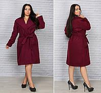 Стильное женское кашемировое пальто для пышных дам