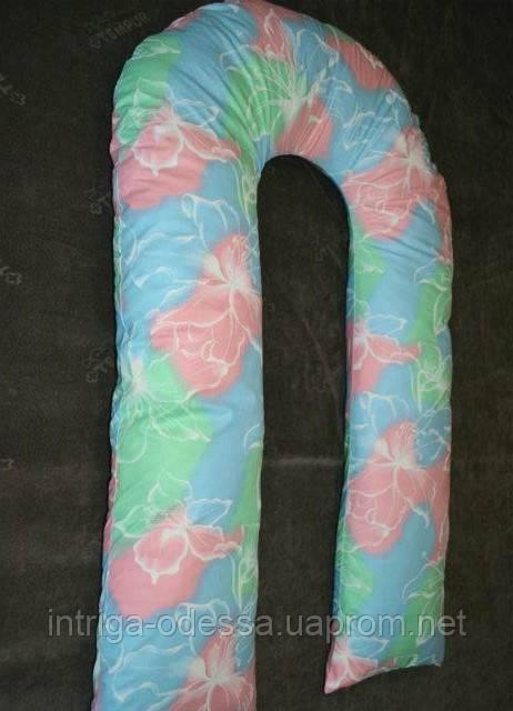 Подушка для вагітних U-подібна різні забарвлення 35х340 см