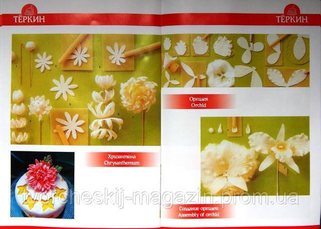 лепка хризантема и орхидея