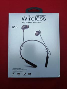 Беспроводные наушники Bluetooth M8 Sport