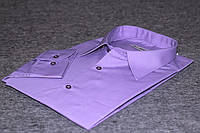 """Фиолетовая рубашка с универсальным манжетом """"Каштан"""", фото 1"""