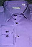 """Фиолетовая рубашка с универсальным манжетом """"Каштан"""", фото 2"""