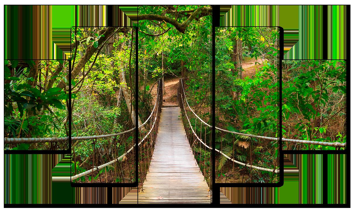 Модульная картина Interno Холст Мост в джунглях 108х60см (R1544)