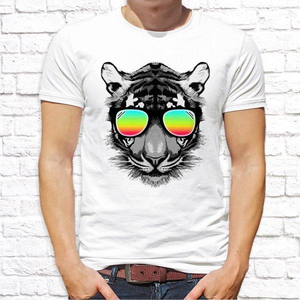 Мужская футболка Push IT с принтом Тигр