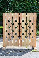 Забор деревянный резной 1м.п.