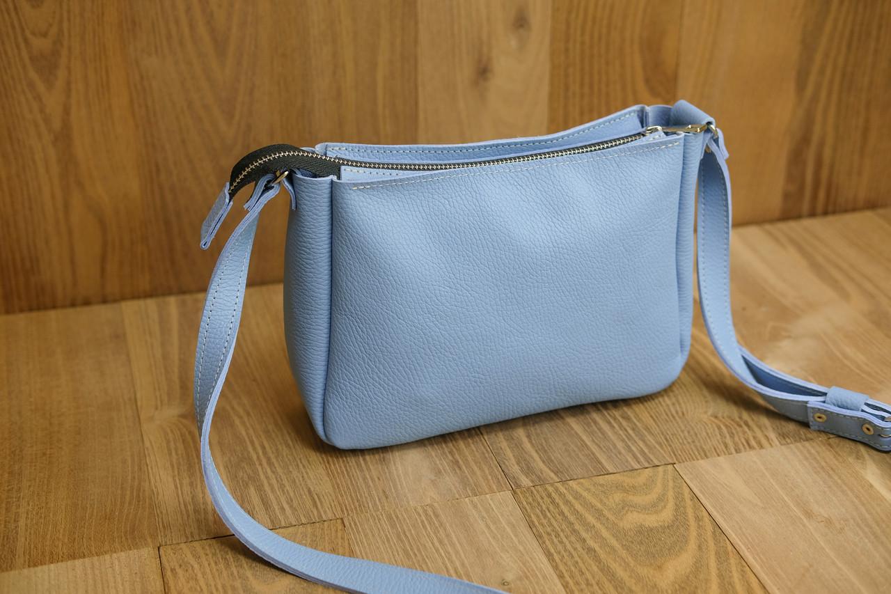 Женская сумка Надежда Кожа Флотар цвет Голубой