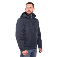 Мужская весенняя куртка Finn Flare A17-22014 темно-синего цвета