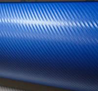 Карбоновая пленка с 3D структурой с микроканалами синяя