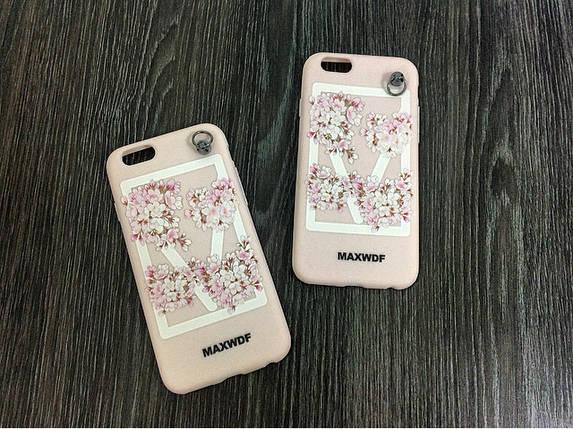 Силиконовый чехол для iPhone 6 Plus / 6S Plus Maxwdf Нежно розовый, фото 2