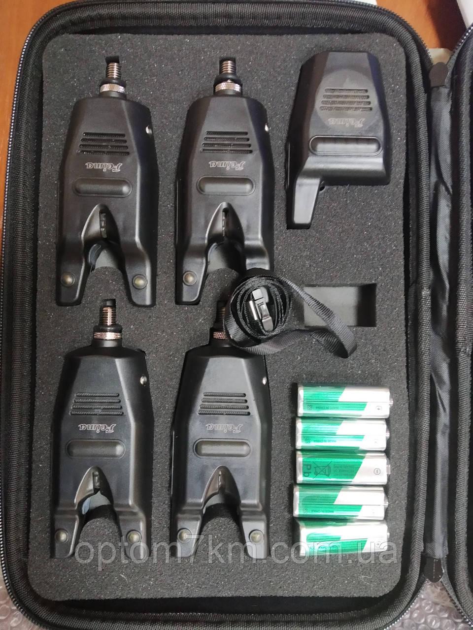 Набор сигнализаторов Feima 4 шт. + пейджер FA218-4