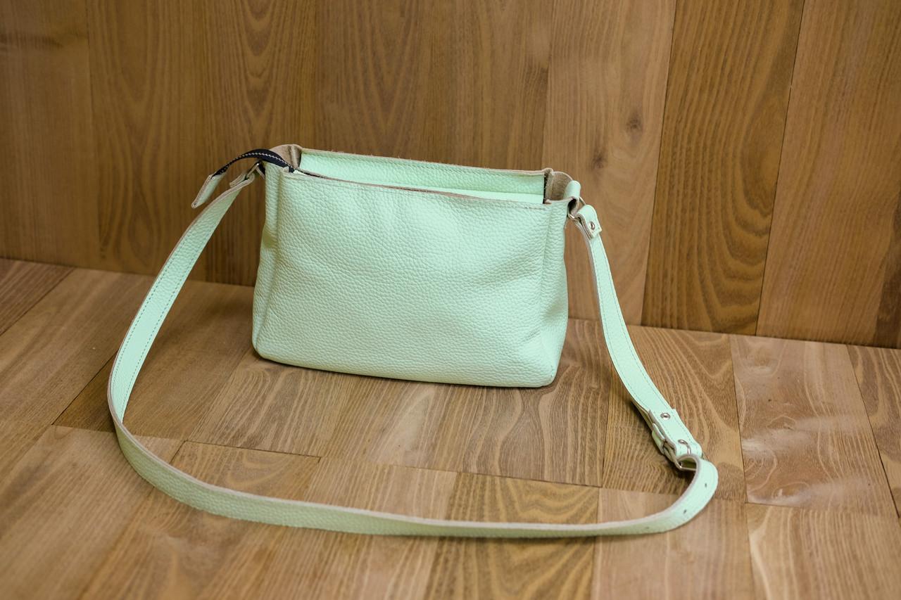 """Женская сумка """"Модель №30"""" Кожа Флотар цвет Салатовый"""