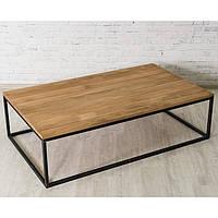 Журнальный/кофейный столик LNK-LOFT из натурального дерева 1600*420*1000, фото 1
