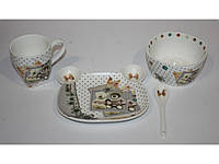 Набор детской посуды Мишки - керамика