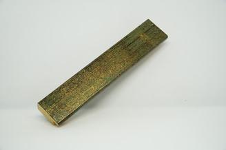 Багет дерев'яний зелений з золотом