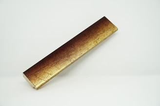 Багет дерев'яний коричневий з градієнтом в золото