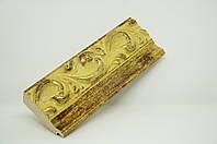 Багет дерев'яний жовтий з золотом
