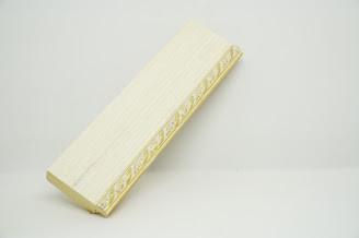 Багет дерев'яний бежевий паспарту з золотою косичкою